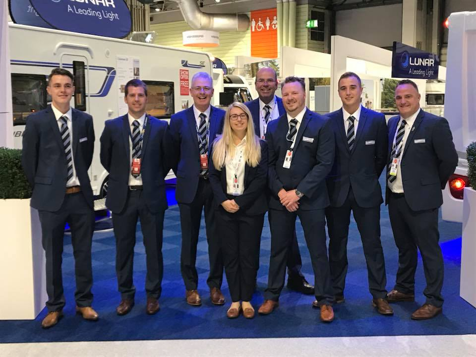 The Winchester Caravans Team at the NEC in October