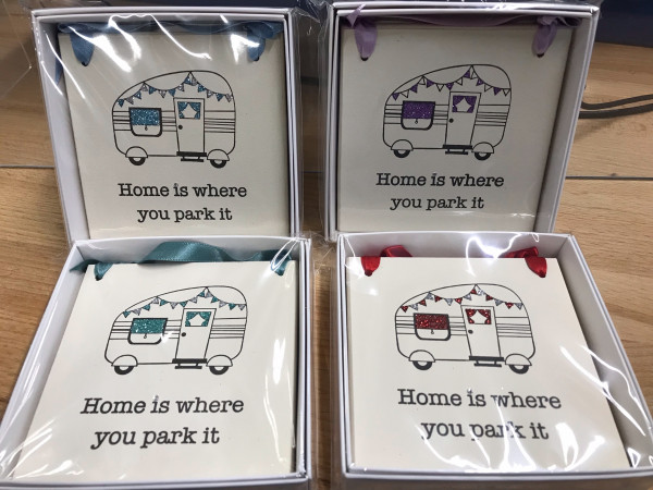 Home is where you park it small  plaque