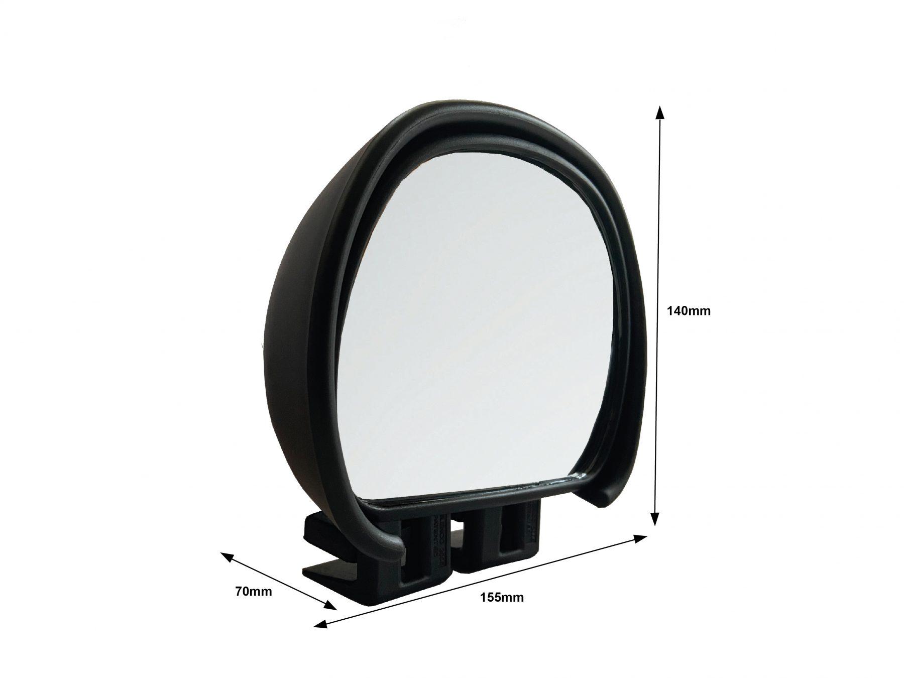 Aero Blind Spot Mirror Black
