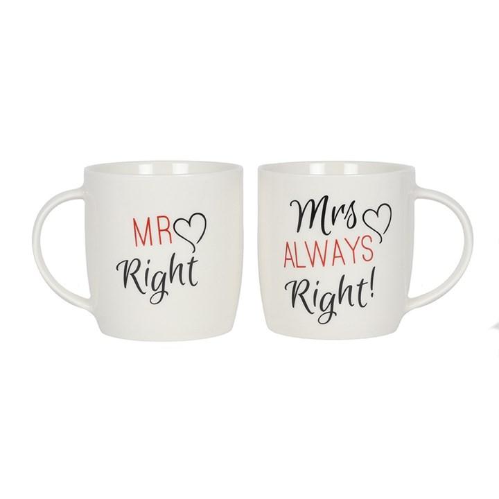 Box of 2 Mr & Mrs Mugs