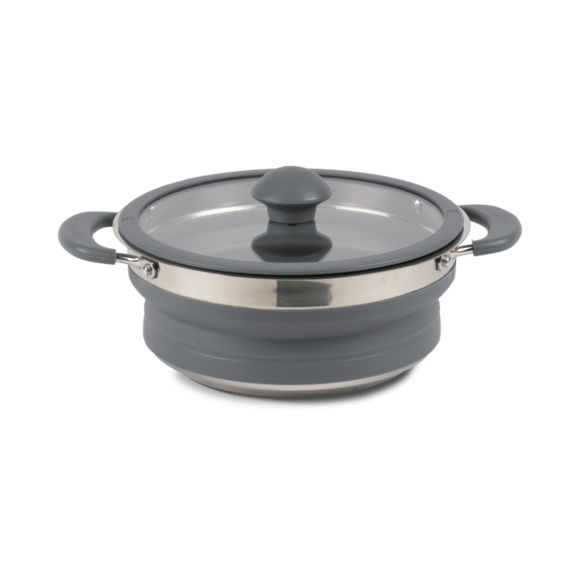 Kampa Collapsible Saucepan 1.5L Grey