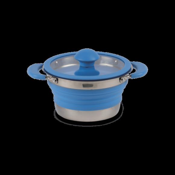 Kampa Collapsible Saucepan 1L Blue
