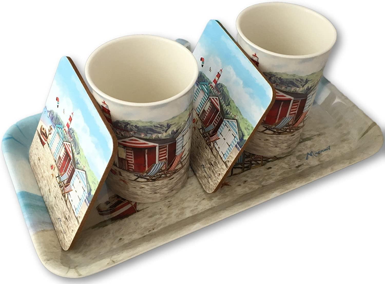 Sandy Bay Mug, Coaster and Tray Set