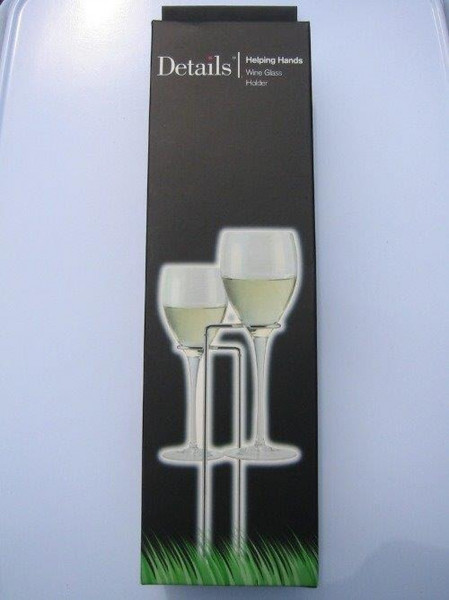 Helping Hands Wire Wine Glass Holders x2
