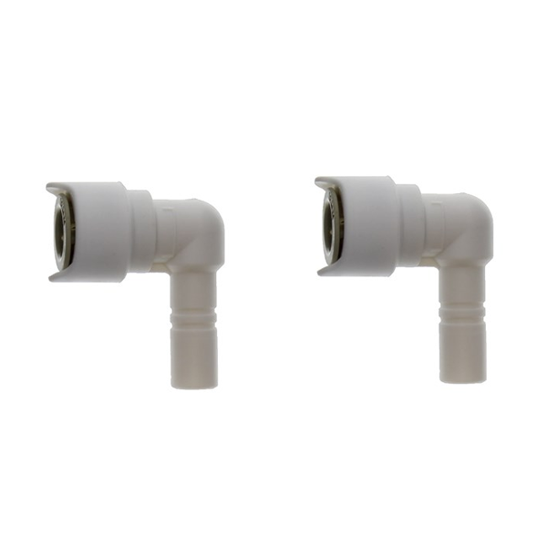 12mm-12mm Stem Elbow Connector White