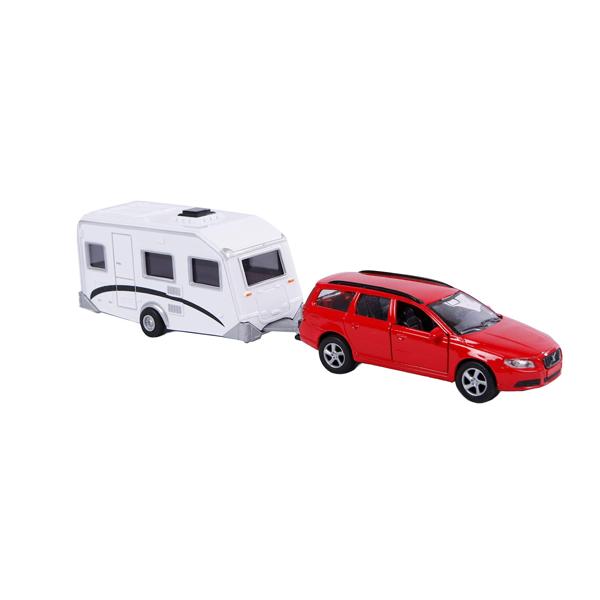 Car & Caravan Toy Set