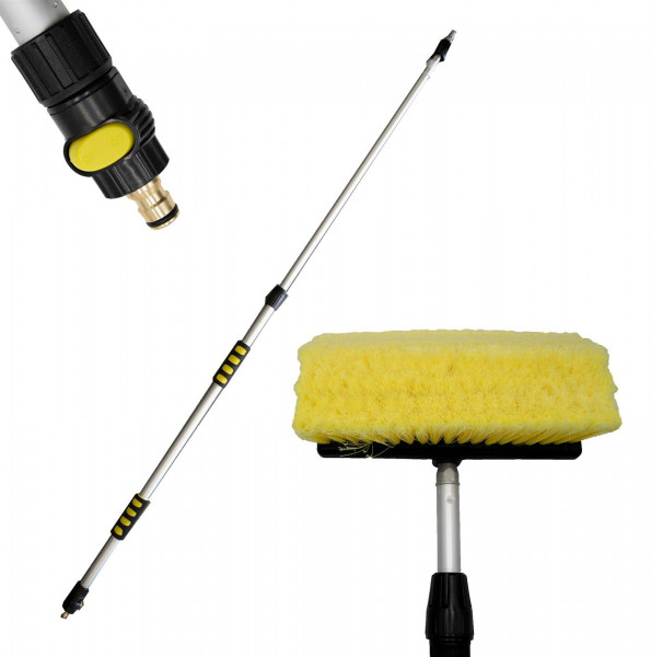 HTD Adjustable Telescopic Twin Angle Soft Brush