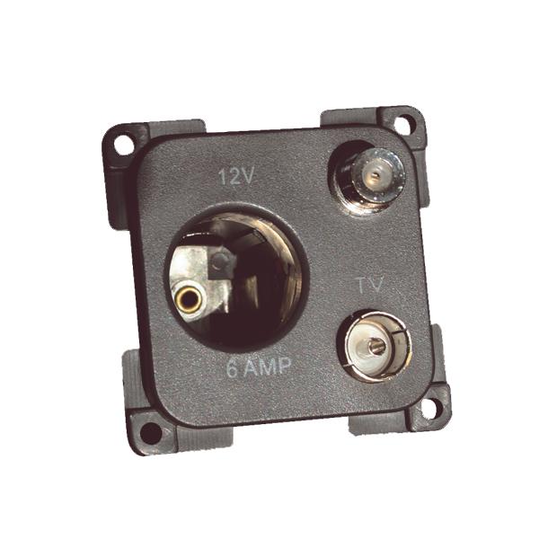 C-Line 12v, TV & Satellite Socket