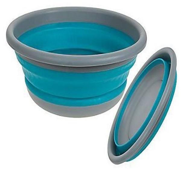 Large Blue Folding Bowl