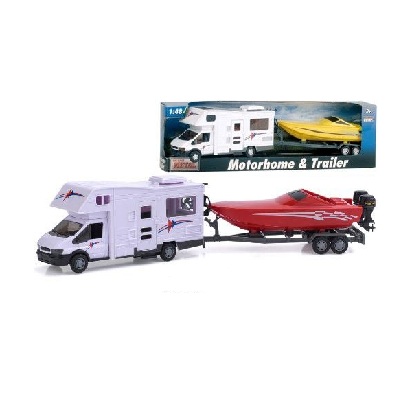 Motorhome & Trailer Toy Set